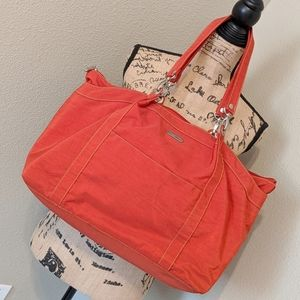 BAGGALLINI Orange Large Tote Bag